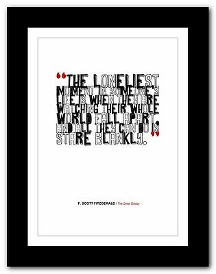 F. SCOTT FITZGERALD The Great Gatsby ❤ typography book quote poster art print 22