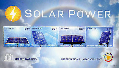 Grenada 2015 MNH UNESCO International Year of Light Solar Power 4v M/S Stamps