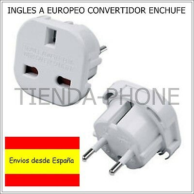 Adaptador corriente universal Reino Unido ingles a europeo europa UK TO EU plug