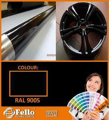 Powder Coating Powder Paint - RAL 9005 BLACK GLOSS 5 KG POLYSTER