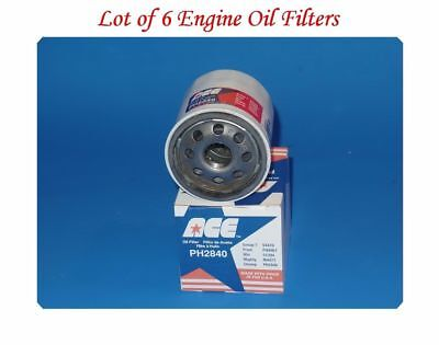 Lot 6 Oil Filter ACE Made In USA For Chevrolet  Scion Nissan Suzuki Toyota