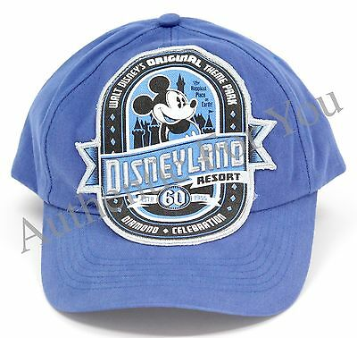 Disneyland 60th Anniversary Diamond Celebration D60 Blue Youth Baseball Hat Cap