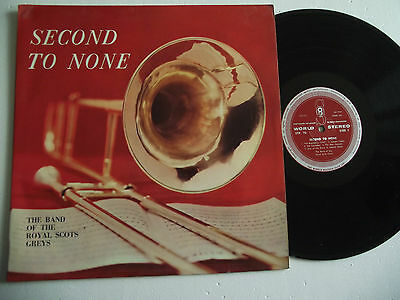 The Band Of The Royal Scots Greys Second To None(Vinyl Lp )*1055