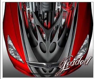 Race car truck hood wrap vinyl graphic decal style loaded