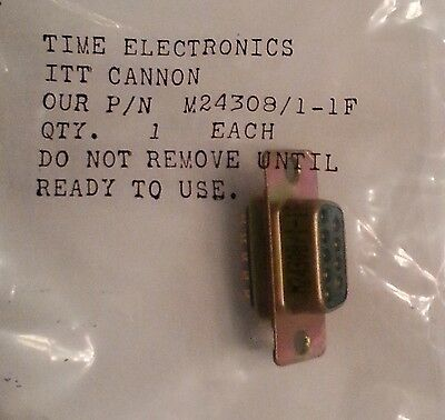 ITT Cannon M24308/1-1F  9 Pin D sub connector Female Sockets In package NOS