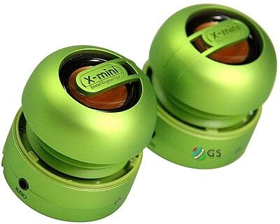XMI X-Mini Max Portable Capsule Twin Duo Speakers GREEN * NEW SEALED *