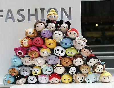 60 Styles New Disney TSUM TSUM Mini Mickey Plush Soft Screen Cleaner With Chain