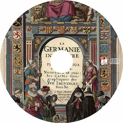 1622 Germania Inferior Netherlands - Ancient Maps Book on CD