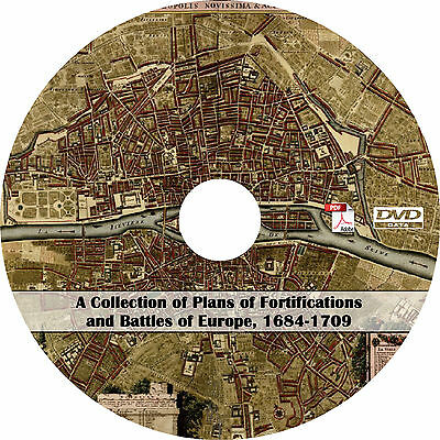 1684-1709 Maps of Europe Battle Plans and Historical Geography (114 Maps on CD)