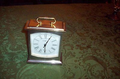 Old Howard Miller Westminster Brass Heavy Table Clock Great Condition