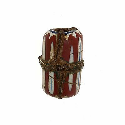 Antique Murano Trade Glass Bead CHEVRON - Africa Venezia - 19th c. -  (0068)