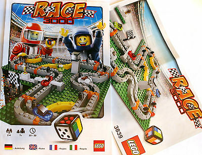 LEGO INSTRUCTIONS - Race 3000 Game Build Ins and Rules - 3839 - NOT ...