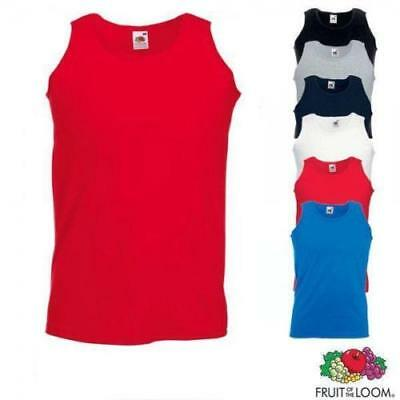 3 Pack Mens Fruit of the Loom Plain Athletic Vests Tank Top Gym Training T Shirt