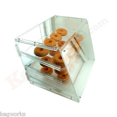 Acrylic Donut & Pastry Display Case - 3 Shelves - Rear Access - Bakery Cabinet