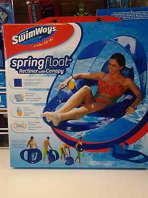 Swim Ways Spring Float RECLINER with CANOPY pool lounge # 13022