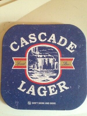 2 x CASCADE LAGER BEER COASTER