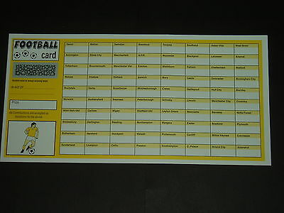 80 Team Football Fundraising Scratch Cards - Value Pack Of 25 Quality Cards