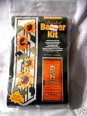 Beaded Banner Kit SUNFLOWERS By The Beadery Craft Products ***NEW & SEALED***