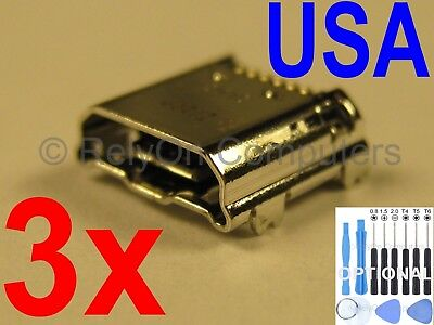 3x Micro USB Charging Port For Samsung Galaxy Tab 4 7.0 SM-T230N SM-T230NU USA