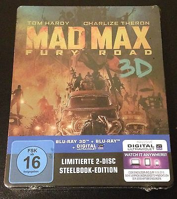 FURY ROAD 3D Blu-Ray SteelBook German Exclusive MAD MAX Region Free 2-Disc Rare!