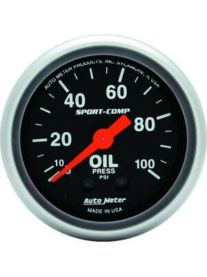 Autometer Sport-Comp Series Oil Pressure Gauge (Au3321)