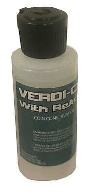 VERDI-CARE Coin Cleaning Conservation Removes Verdigris Stop Corrosion Free Post
