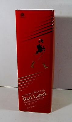 JOHNNIE WALKER RED LABEL TIN BOX CASE EMPTY NO ALCOHOL BOTTLE CONTAINER No3