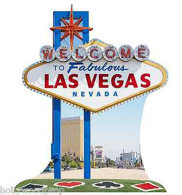 Welcome To Fabulous Las Vegas Nevada Road Sign Cardboard Standup Standee Cutout