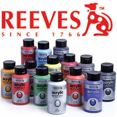 Reeves Artist Acrylic Paint 400ml 33 Colours to Choose From