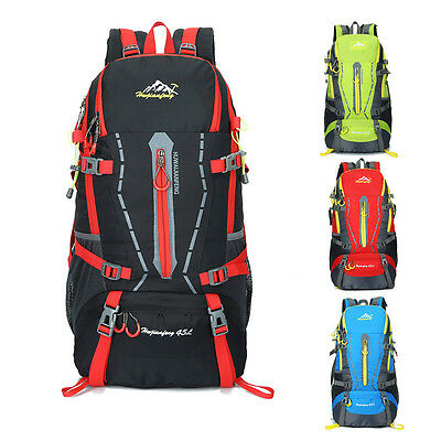 45L Sports Backpack Outdoor Hiking Camping Backpack Athletic Travel Daypacks Bag