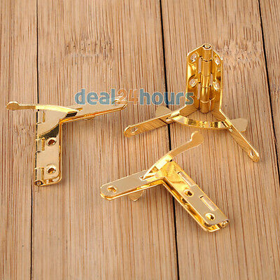 10pcs Gold Hinge Hardware Accessories 33x30mm Spring Hinge For Jewelry Box