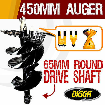 NEW 450mm Auger Drill Bit Post Hole Earth Augers Drilling Tungsten 12 Inch Bits