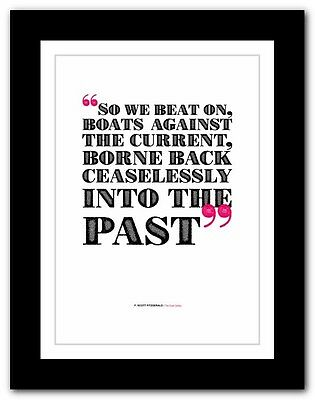 F. SCOTT FITZGERALD The Great Gatsby❤ typography book quote poster art print #25
