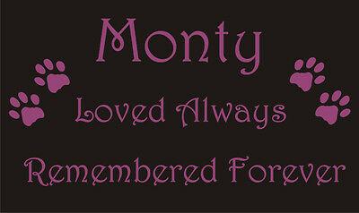 Pet Memorial Plaque - dog cat horse rabbit guinea pig - all pets - choices