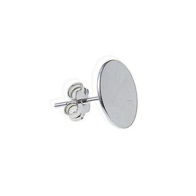 925 Sterling Silver Flat Disc Stud Ear Post With Scroll Back 3mm 5mm 7mm 10mm