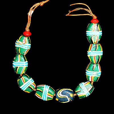 Antique Murano Trade Glass Beads String - Africa Venezia - 19th/20t c. -  (0073)