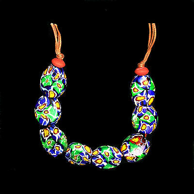 Antique Murano Trade Glass Beads String - Africa Venezia - 19th/20t c. -  (0074)