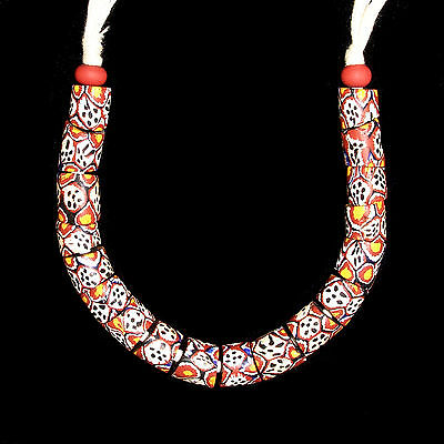 Antique Murano Trade Glass Beads String - Africa Venezia - 19th/20t c. -  (0075)