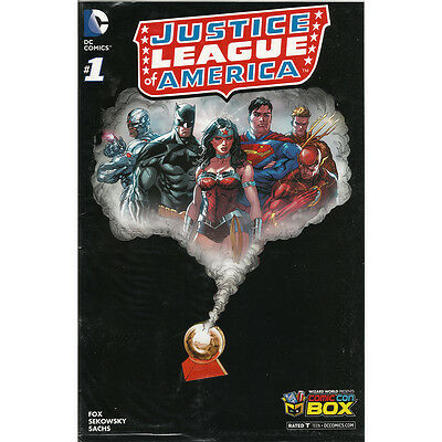 JLA 1 Justice League America Comic Con Box Exclusive Die Cut Cover Variant Cover