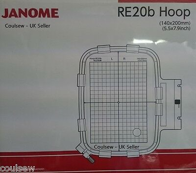 JANOME 400E & 500E Embroidery Extra Hoop RE20b 140x200mm Genuine 864405001