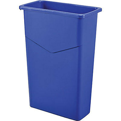 Global 23 Gallon Slim Trash Container - Blue