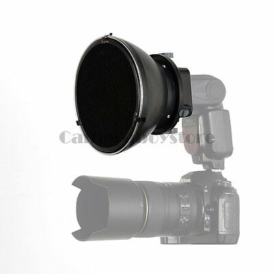 """17cm / 6.7"""" Beauty Dish Honeycomb & Adapter Grid/ Diffuser for On-Camera Flash"""