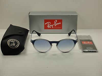 6f4a49057c Ray-Ban Round Sunglasses Rb4243 622519 Blue Grey light Blue Gradient Lens  49Mm