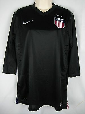 promo code a8bd9 e794d NEW NIKE USWNT USA Centennial Authentic Soccer Jersey Goalkeeper Black  Womens L