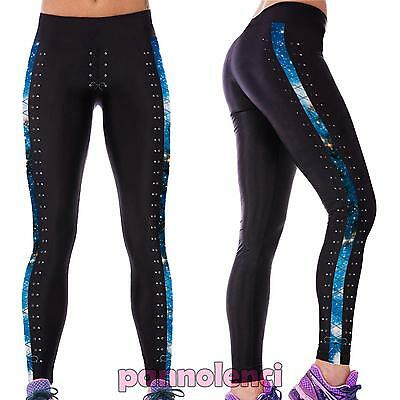 Leggings donna pantaloni yoga fitness leggins palestra running fuseaux DL-1868