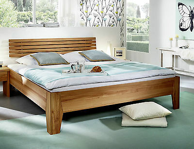 doppelbett bett mit schubk sten 160x200 wildeiche holz massiv ge lt neu ovp eur 819 00. Black Bedroom Furniture Sets. Home Design Ideas