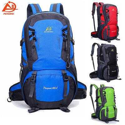 Waterproof 40L Sports Backpack Outdoor Hiking Camping Travel Rucksack Day Packs