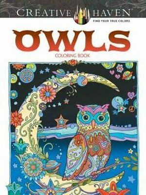 Coloring Books For Adult Haven Owls Patterns Art Design Painting Relaxing Stress
