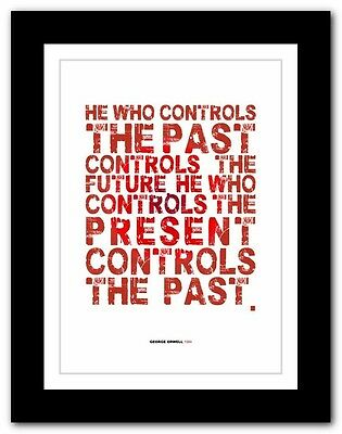 GEORGE ORWELL 1984 ❤ typography book quote poster art print inspirational #50