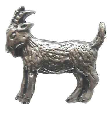 Masonic Goat Handcrafted From English Pewter Lapel Pin Badge + Gift Bag